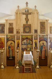 Алтарь старообрядческой церкви